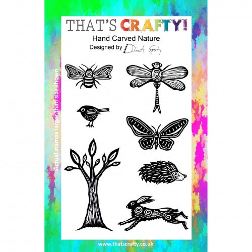 That's Crafty! - Donna Gray - Clear Stamp Set - Hand Carved Nature