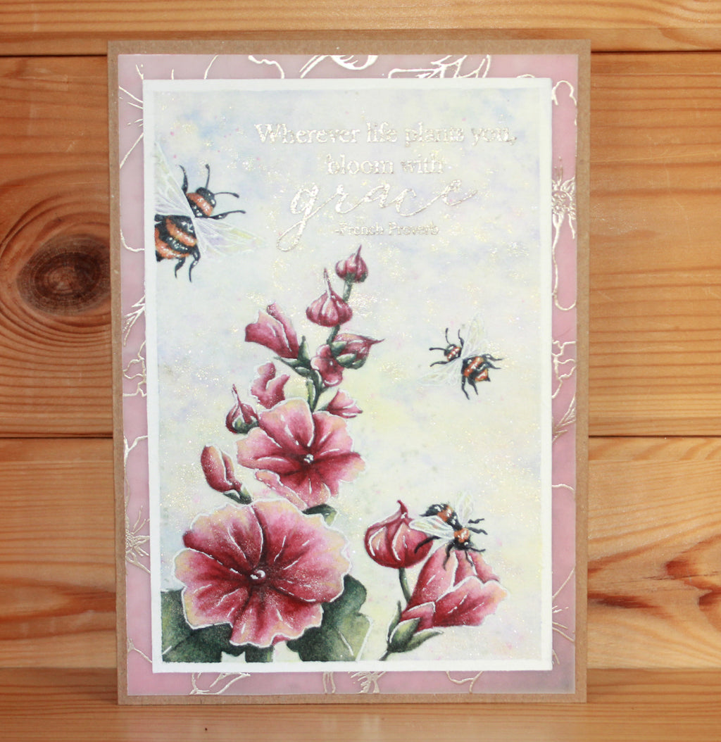 Hobby Art Stamps - Clear Polymer Stamp Set - Garden Flowers