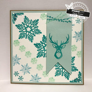 Studio Light - Winter Feelings Deer, Tree, Stars, Garland - 236 - Clear Polymer Stamps
