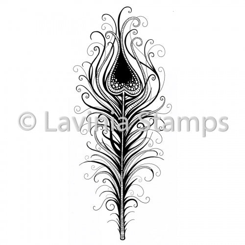 Lavinia - Indian Flourish Feather - Clear Polymer Stamp