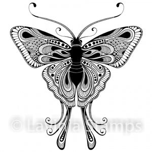 Lavinia - Indra - Butterfly/Moth - Clear Polymer Stamp