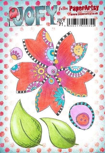 PaperArtsy - JOFY 71 - Rubber Cling Mounted Stamp Set