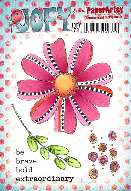 PaperArtsy - JOFY 73 - Rubber Cling Mounted Stamp Set