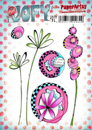 PaperArtsy - JOFY 74 - Rubber Cling Mounted Stamp Set