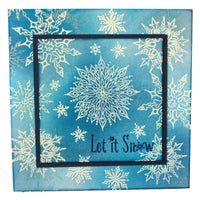 Hobby Art Stamps - Clear Polymer Stamp Set - Winter's Snowflakes