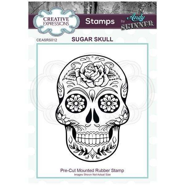 Creative Expressions - Rubber Cling Stamp - Andy Skinner - Sugar Skull