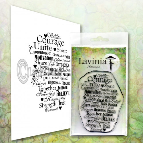 Lavinia - Keeping the Faith - Clear Polymer Stamp