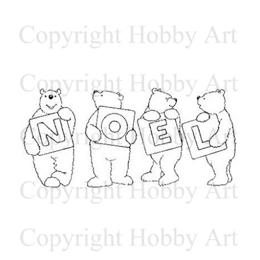 Hobby Art Stamps - Rubber Cling Stamp - A Very Beary Noel