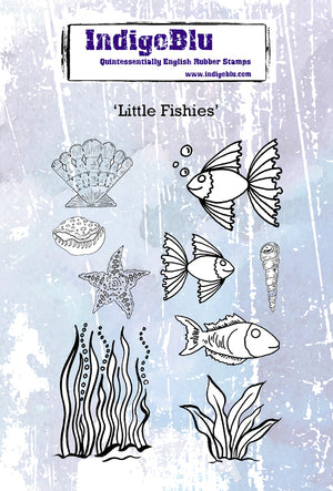 IndigoBlu - Cling Mounted Stamp - Little Fishies