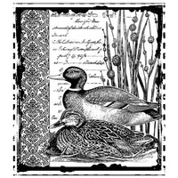 Crafty Individuals - Unmounted Rubber Stamp - Mallard Duck Pair