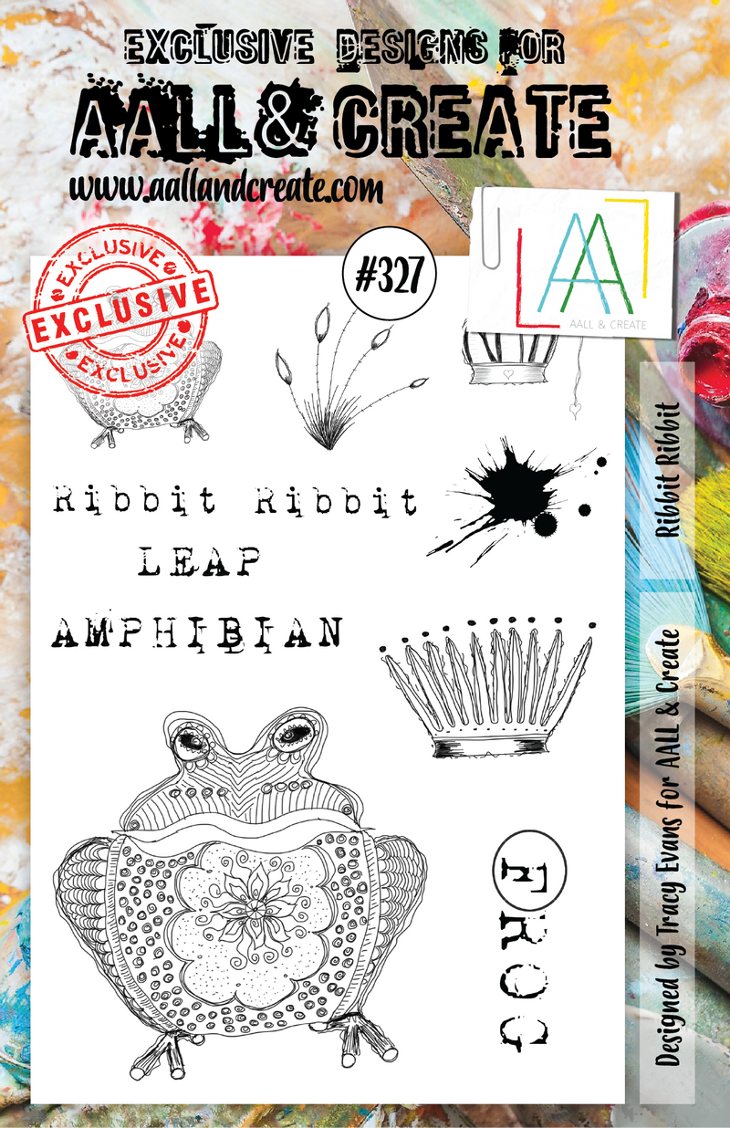 AALL & Create - Clear Stamp Set - A5 - #327 - Ribbit Ribbit - Tracy Evans