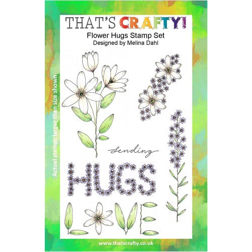 That's Crafty! - Melina Dahl - Clear Stamp Set - Flower Hugs
