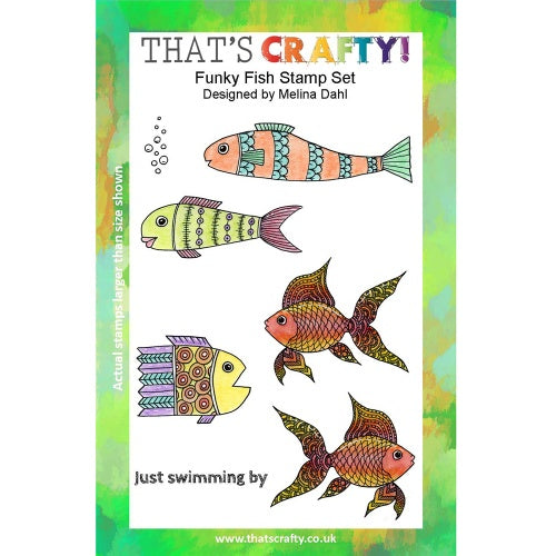 That's Crafty! - Melina Dahl - Clear Stamp Set - Funky Fish
