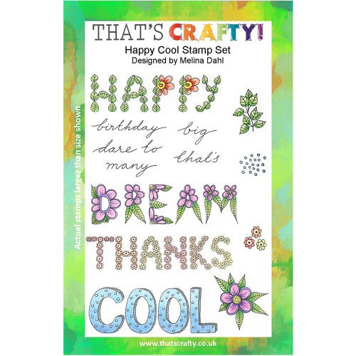 That's Crafty! - Melina Dahl - Clear Stamp Set - Happy Cool