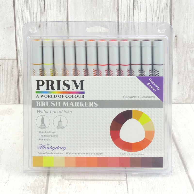 Hunkydory - Prism Brush Markers - Heavenly Sunset