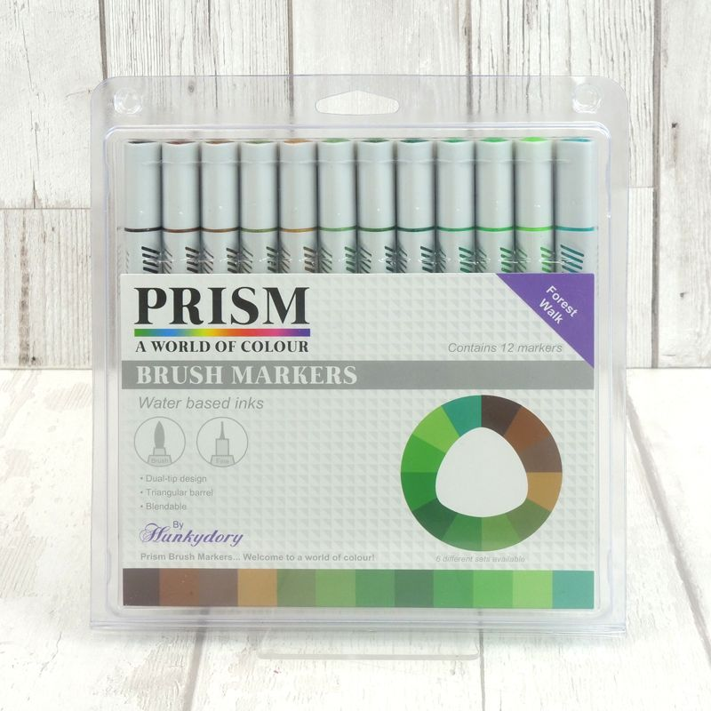 Hunkydory - Prism Brush Markers - Forest Walk