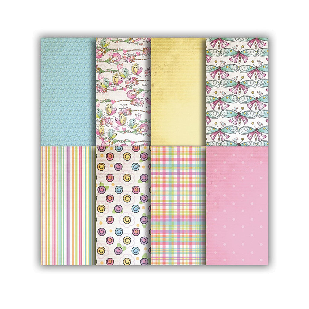 Polkadoodles - Paper Pad - Vintage Candy Craft Papers