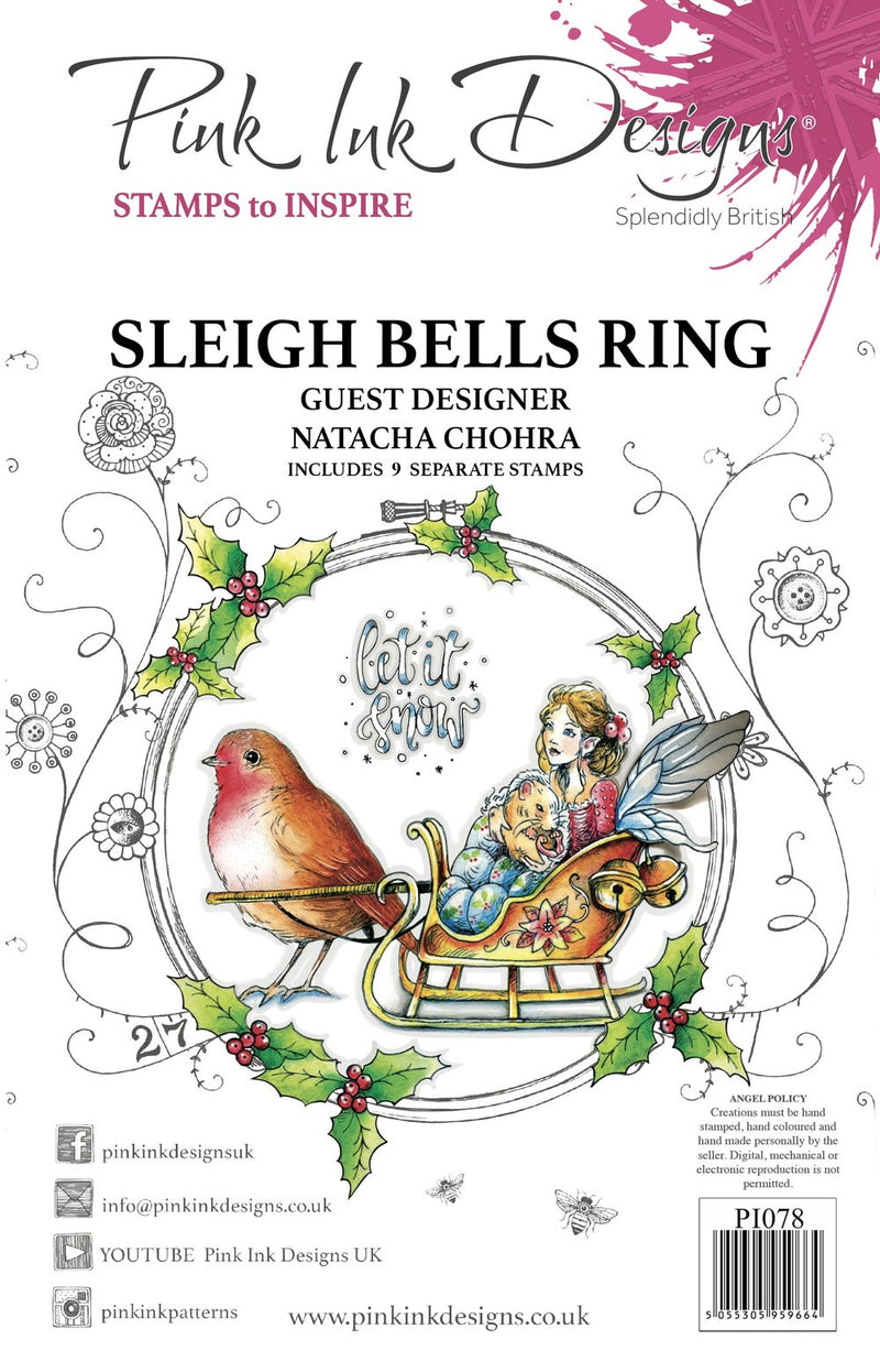 Pink Ink Designs - Clear Photopolymer Stamps - Sleigh Bells Ring