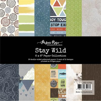 Paper Rose - Paper Pad - 6 x 6 - Stay Wild