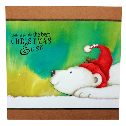 Hobby Art Stamps - Clear Polymer Stamp Set - Peter the Polar Bear