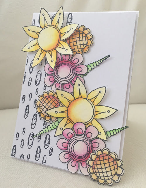 PaperArtsy - Tracy Scott 09 - Rubber Cling Mounted Stamp Set