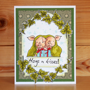 Hobby Art Stamps - Clear Polymer Stamp Set - A5 - Pigs in Blankets
