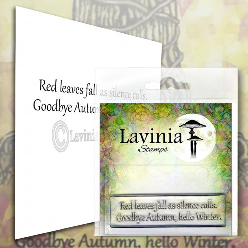 Lavinia - Red Leaves - Clear Polymer Stamp - PREORDER