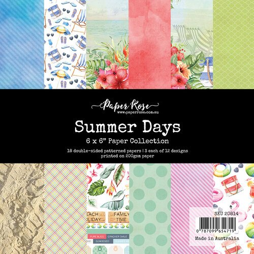 Paper Rose - Paper Pad - 6 x 6 - Summer Days