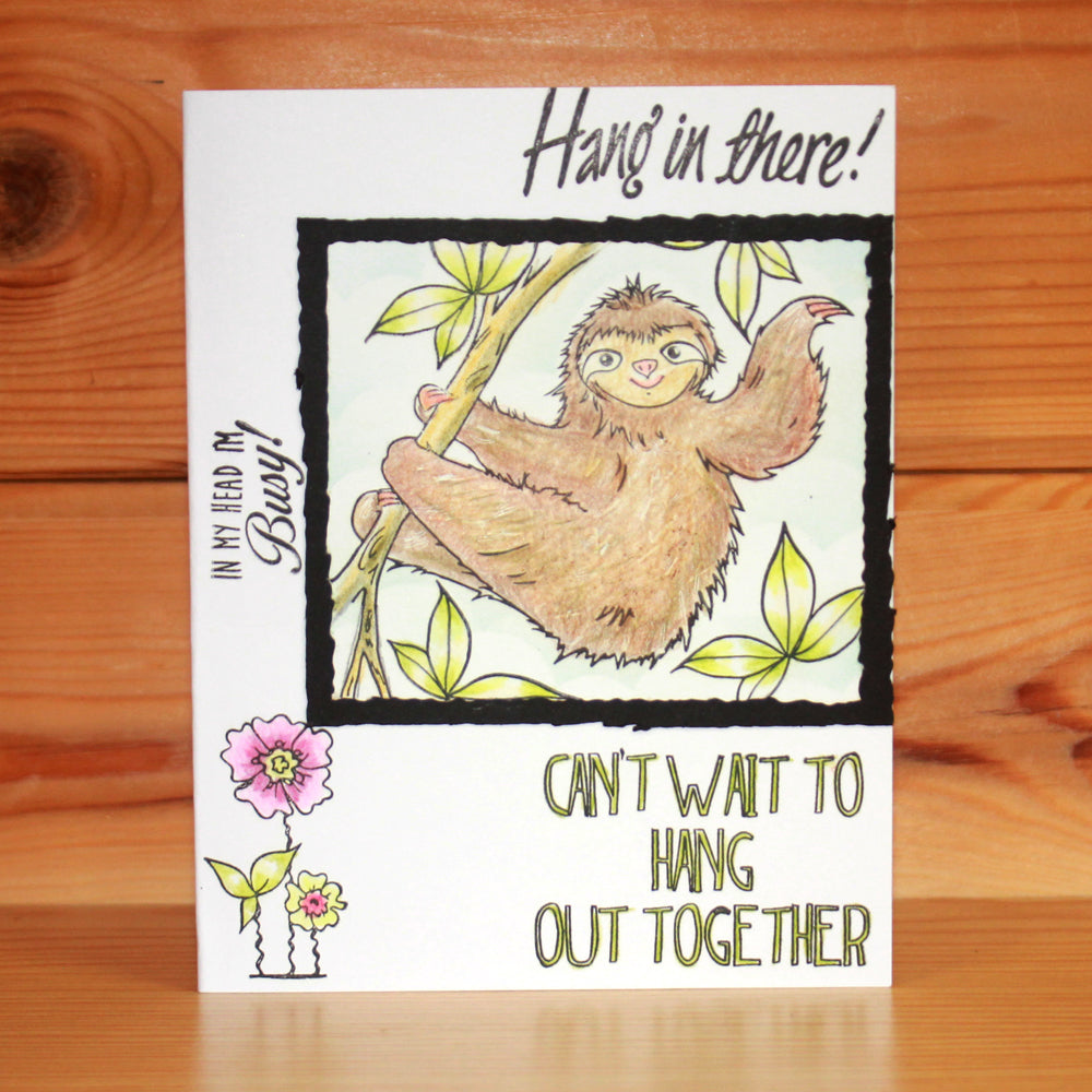 Hobby Art Stamps - Clear Polymer Stamp Set - A5 - Sloths