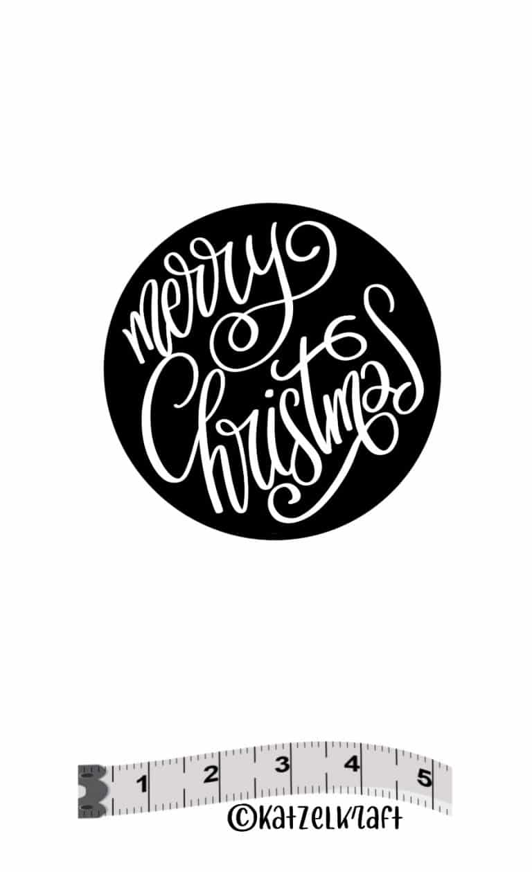 Katzelkraft - SOLO136 - Unmounted Red Rubber Stamp - Script Merry Christmas