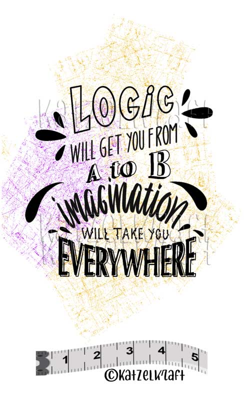 Katzelkraft - SOLO151 - Unmounted Red Rubber Stamp - Logic Will Get You From...