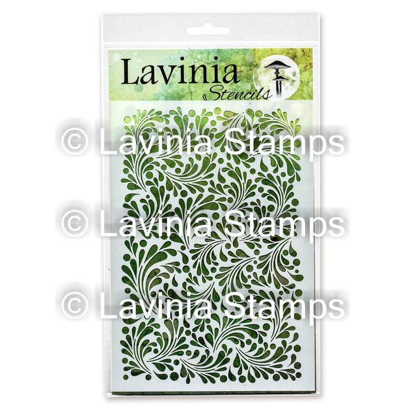 Lavinia - Stencil - Feather Leaf
