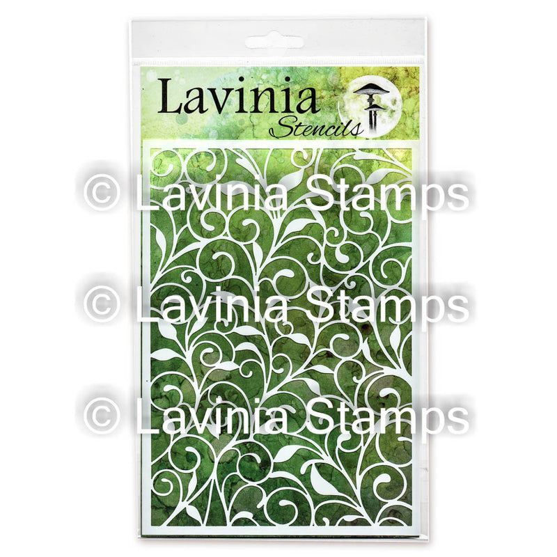 Lavinia - Stencil - Leaf Trails