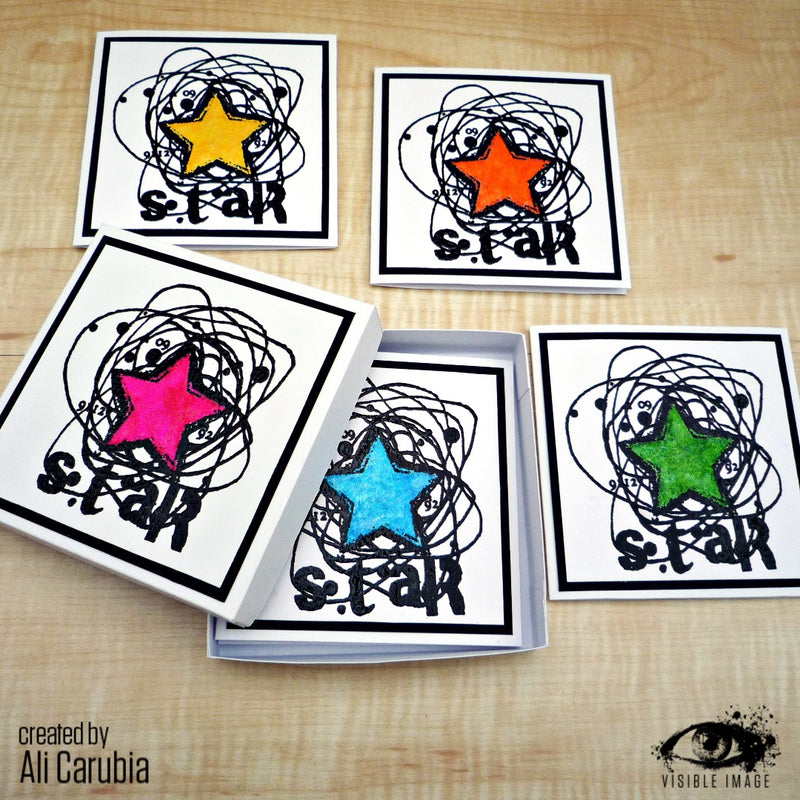 Visible Image - Scribbled Star - Clear Polymer Stamp Set