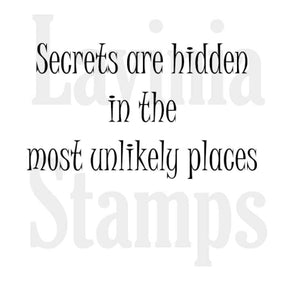 Lavinia - Secrets are Hidden - Clear Polymer Stamps