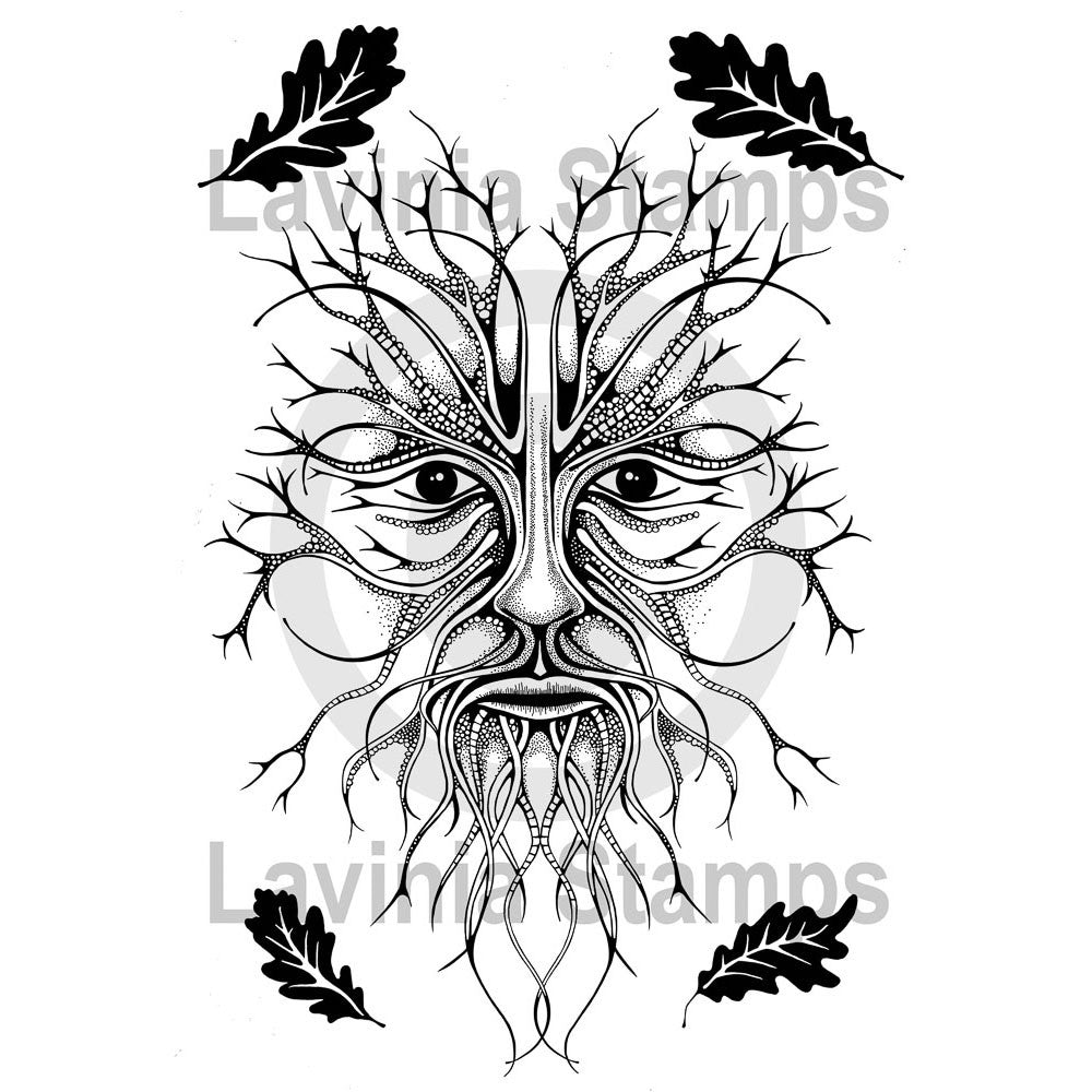 Lavinia - Small Green Man - Clear Polymer Stamp