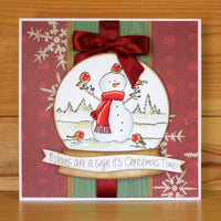 Hobby Art Stamps - Clear Polymer Stamp Set - Snowman & Friends
