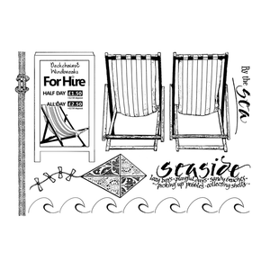 Crafty Individuals - Unmounted Rubber Stamp - By the Sea