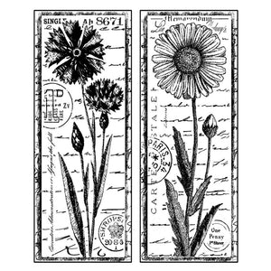 Crafty Individuals - Unmounted Rubber Stamp - 185 - Tall Wild Flowers