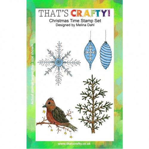 That's Crafty! - Melina Dahl - Clear Stamp Set - Christmas Time
