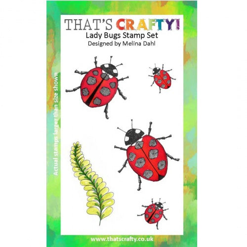 That's Crafty! - Melina Dahl - Clear Stamp Set - Lady Bugs