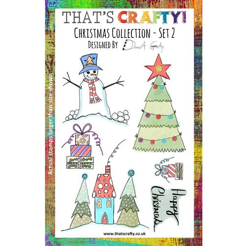 That's Crafty! - Donna Gray - Clear Stamp Set - Christmas Collection - Set 2