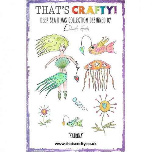 That's Crafty! - Donna Gray - Clear Stamp Set - Deep Sea Divas - Katrina