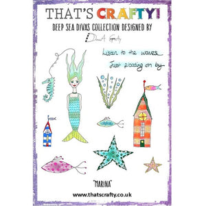That's Crafty! - Donna Gray - Clear Stamp Set - Deep Sea Divas - Marina