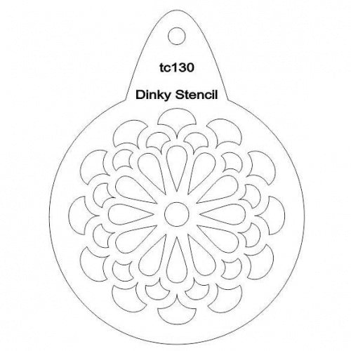 That's Crafty! - Stencil - Stylized Chrysanthemum - TC130