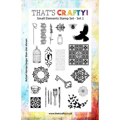 That's Crafty! - Clear Stamp Set - Small Elements Set 1
