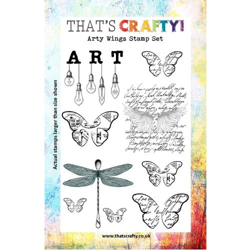 That's Crafty! - Clear Stamp Set - Arty Wings