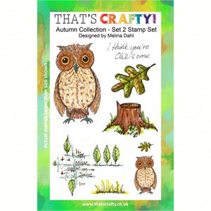 That's Crafty! - Melina Dahl - Clear Stamp Set - Autumn Collection Set 2