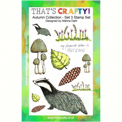 That's Crafty! - Melina Dahl - Clear Stamp Set - Autumn Collection Set 3