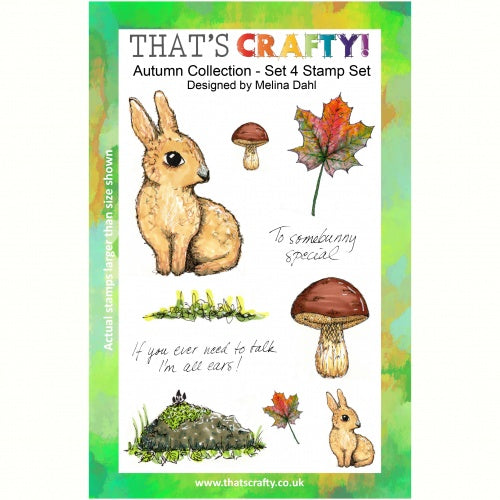 That's Crafty! - Melina Dahl - Clear Stamp Set - Autumn Collection Set 4